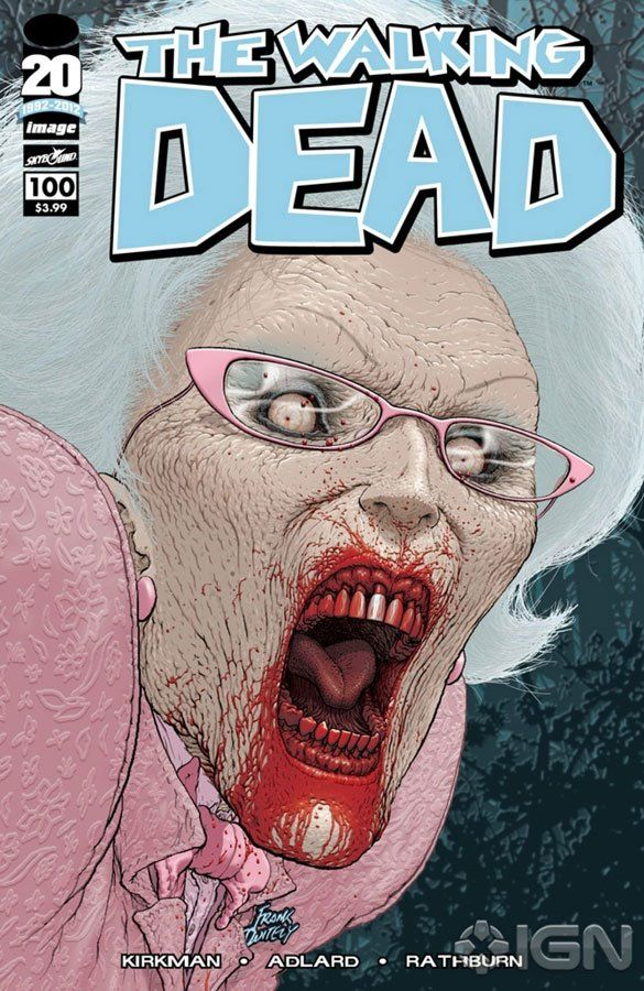 Capa Alternativa da Edição #100 de The Walking Dead