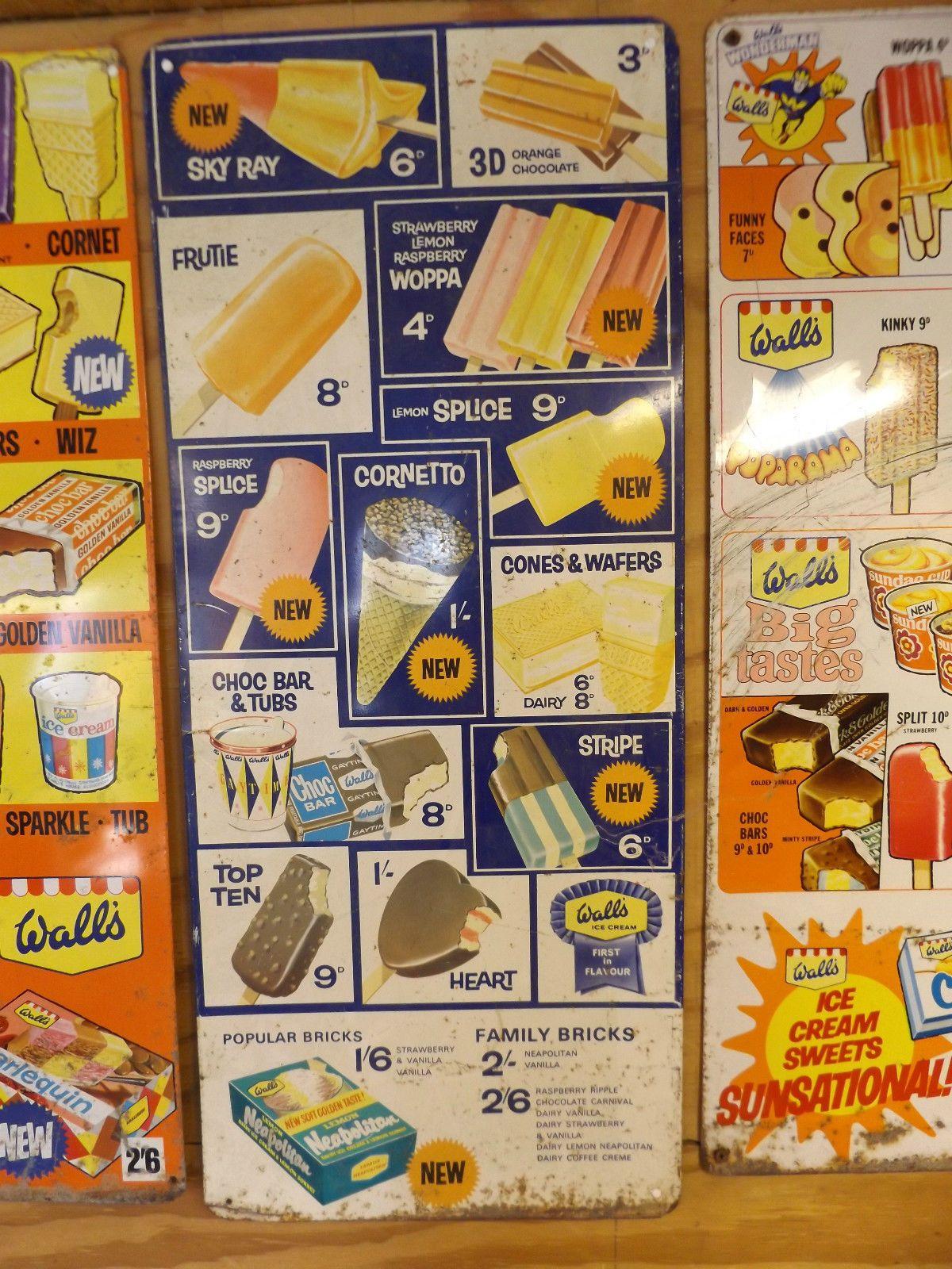 Decimal Walls Ice Cream Tin Sign 1 Ebay Walls Ice Cream Retro