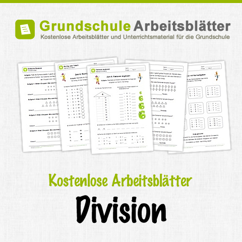 Aufgaben Division (Klassisch): Arbeitsblatt 01 | Math, Deutsch and ...