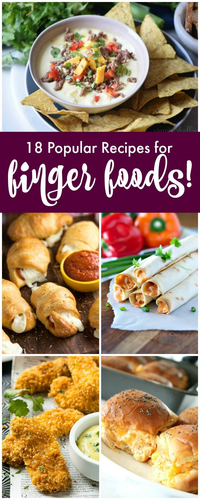 Finger Food Recipes For Parties Easy Appetizers These