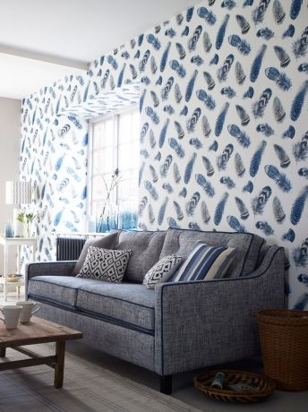 retro und vintage zwei wohnstile inspiriert von der vergangenheit, feather-feature-wallpaper | wallpaper | pinterest, Design ideen