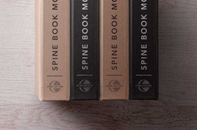 Psd Hardback Book Spine Mockup Psd Mock Up Templates Book Spine Mockup Psd