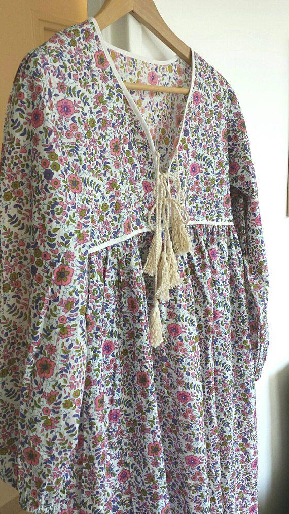 Retrouvez cet article dans ma boutique Etsy https://www.etsy.com/fr/listing/529066407/robe-tout-coton-indien-petites-fleurs-et