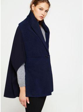 Cappotto blu effetto zibellinato Cinzia Rocca | Cappotti