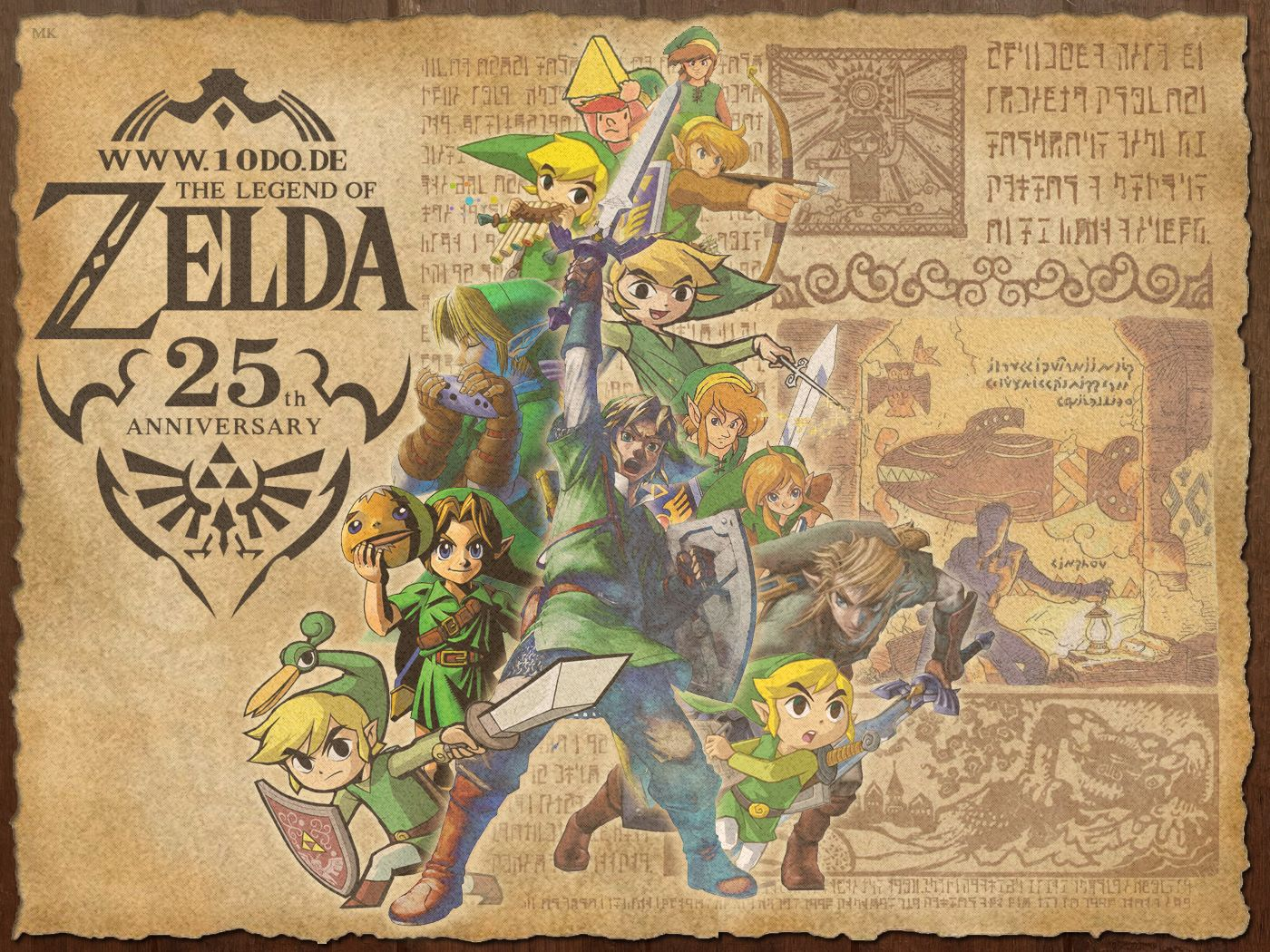 Zelda 25th Anniversary Zelda 25th Anniversary Wallpaper 43 By