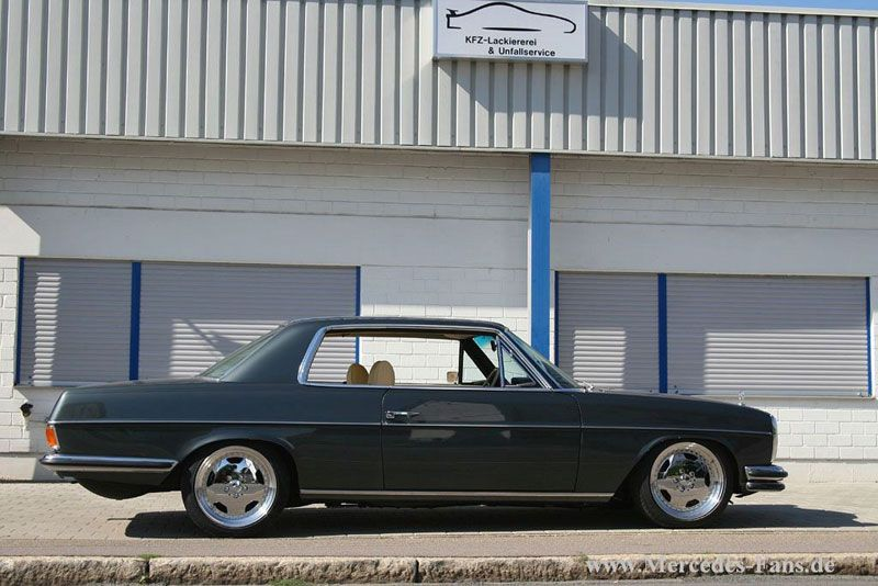 mercedes benz w114 280c coupe on amg aero i wheels 02. Black Bedroom Furniture Sets. Home Design Ideas