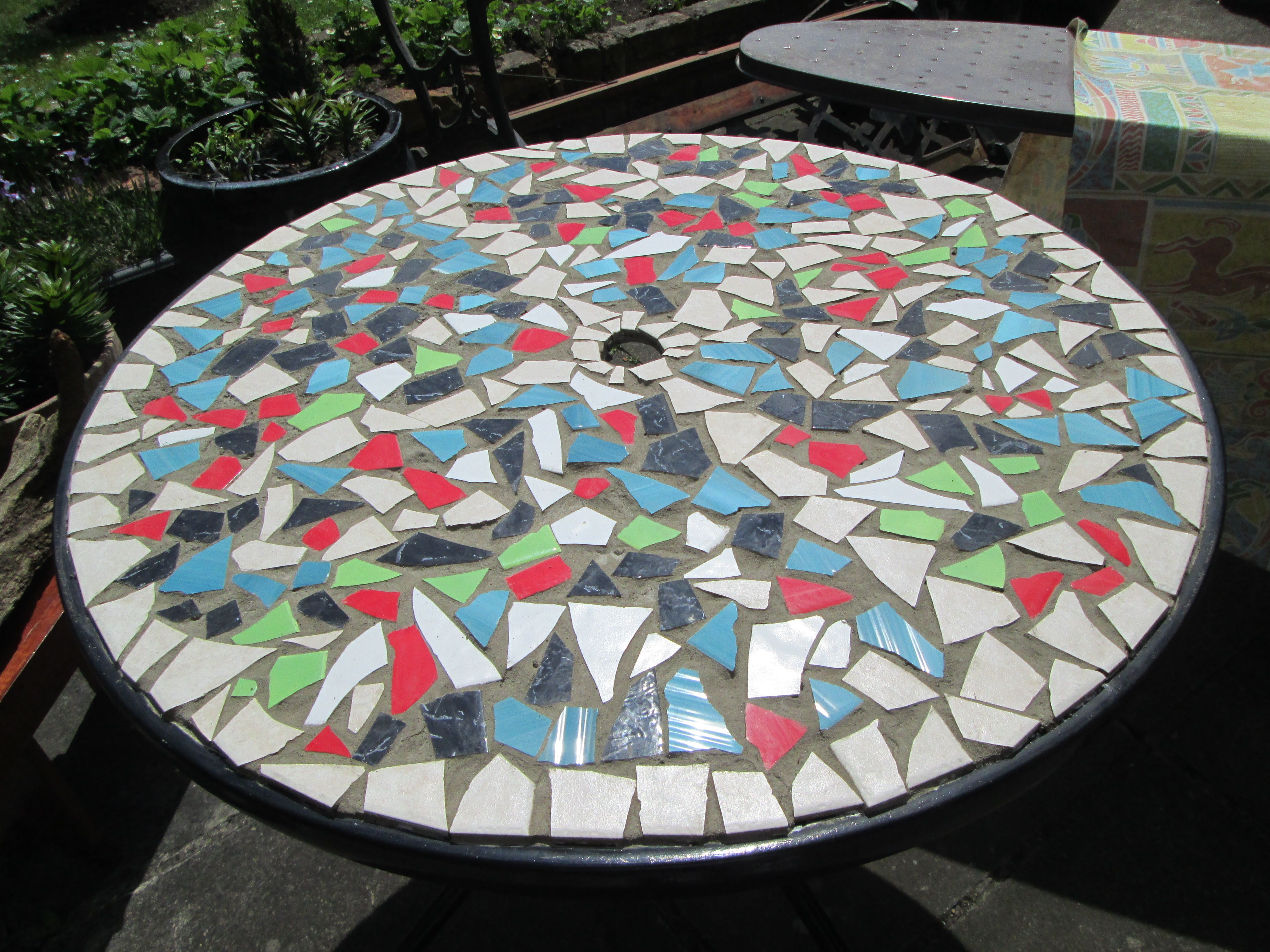 Sold custom made butterfly mosaic table top for mary ann in texas - How To Design Mosaic Table Top With Ceramic Tiles