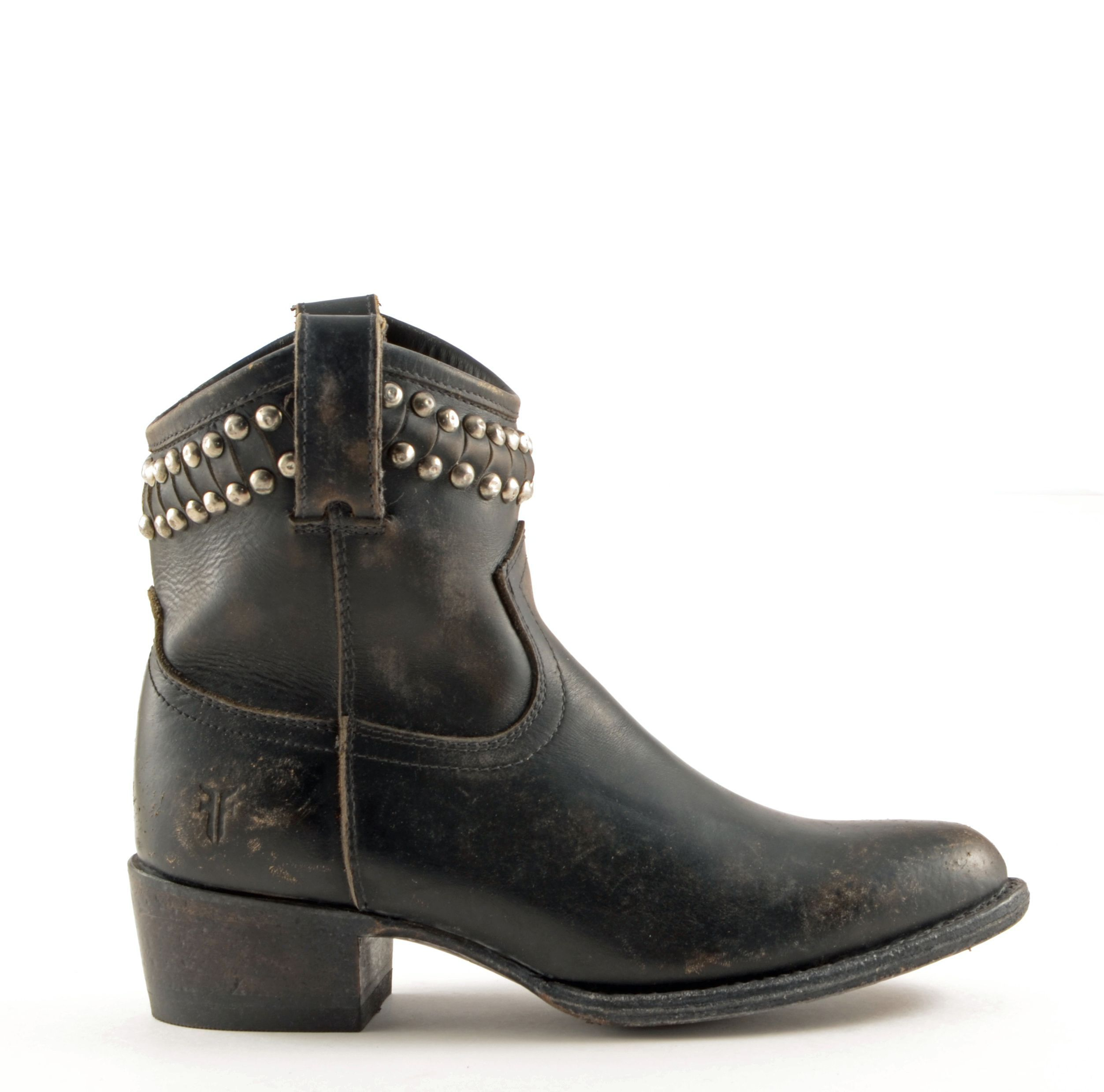 95131e406463 Frye Black Ankle Boots Style  Womens Frye Diana Cut Studded Short Boots  Black  77978blk