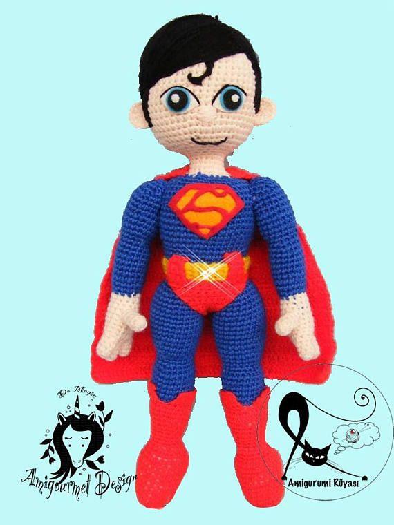 Superman inspired Amigurumi Doll