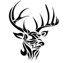 Tribal Deer Tattoo Stencils Deer Hunting Tattoo Ideas On Pinterest Deer Tattoo Hunting Tattoos Tribal Animal Tattoos Deer Tattoo Designs Tribal Drawings