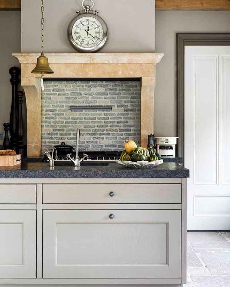 Kitchens In Style Same Color On Walls And Cupboards Diffe