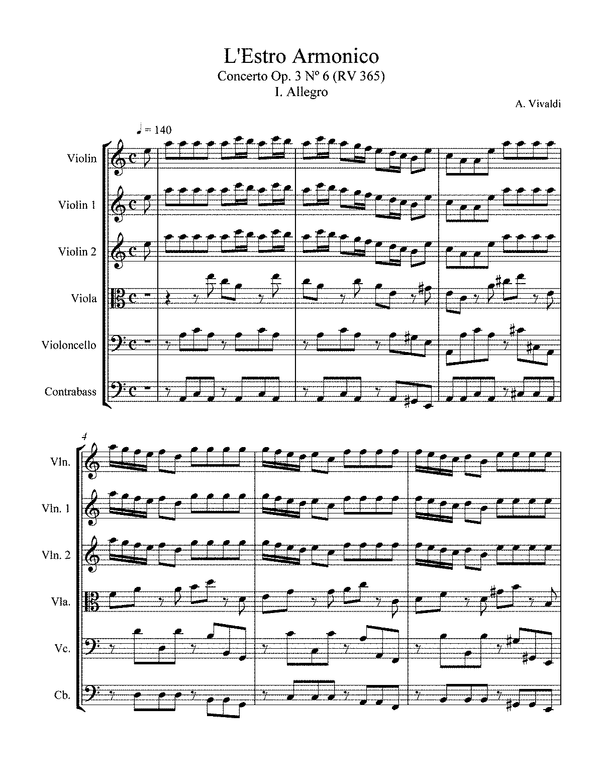 vivaldi winter violin sheet music pdf