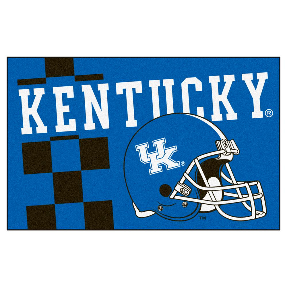 Fanmats Ncaa University Of Kentucky Blue 2 Ft X 3 Ft Area Rug Team Colors University Of Kentucky Kentucky Custom Logos