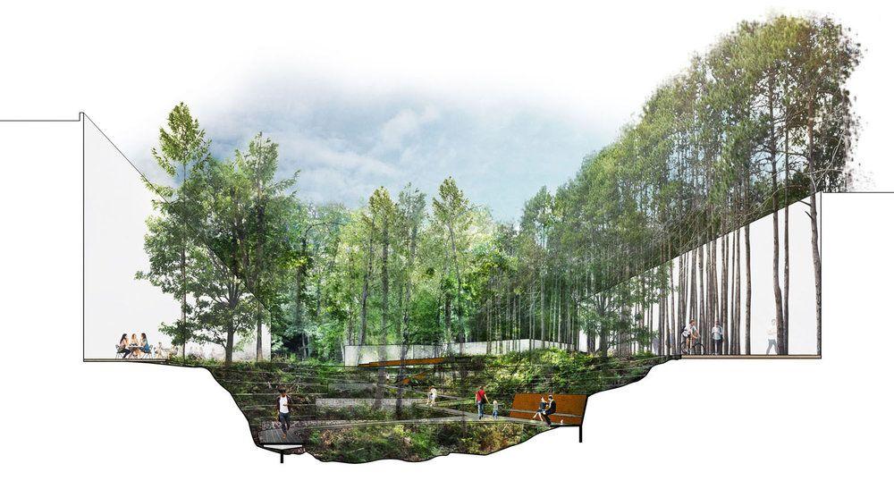 Riv Section Jpg Landscape Plans Landscape Projects Street Design