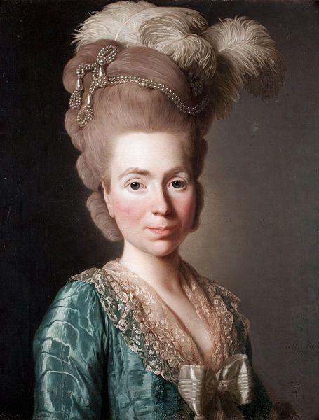 Портрет Натальи Петровны Голицыной, урождённой Чернышёвой, прототипа Пиковой дамы, кисти А.Рослина, 1777 г.