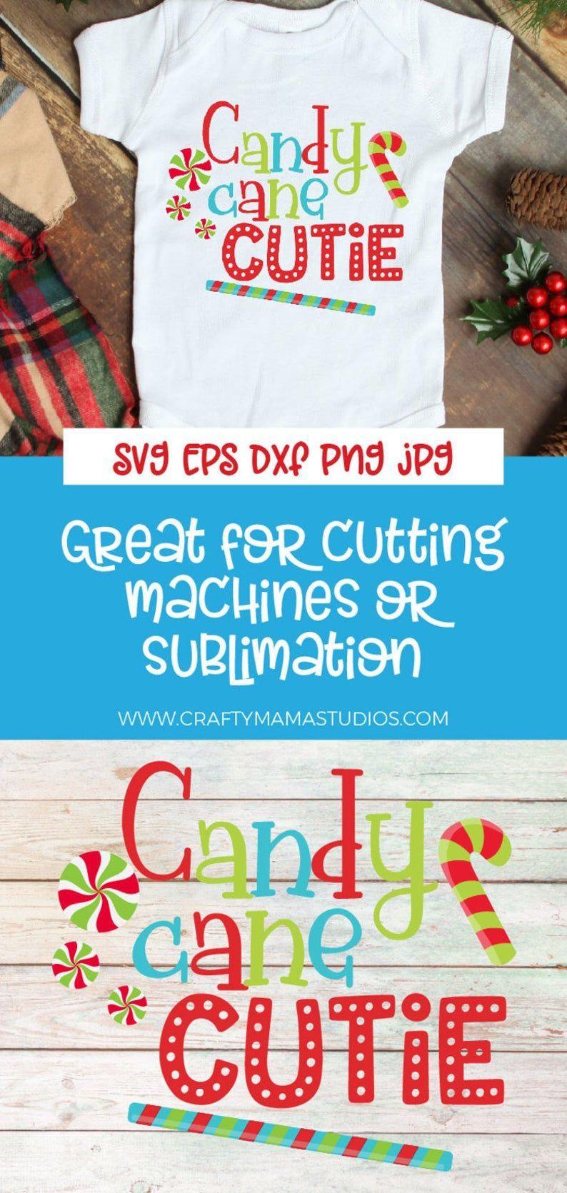 Christmas SVG, Candy Cane Cutie SVG, Candy Cane Christmas