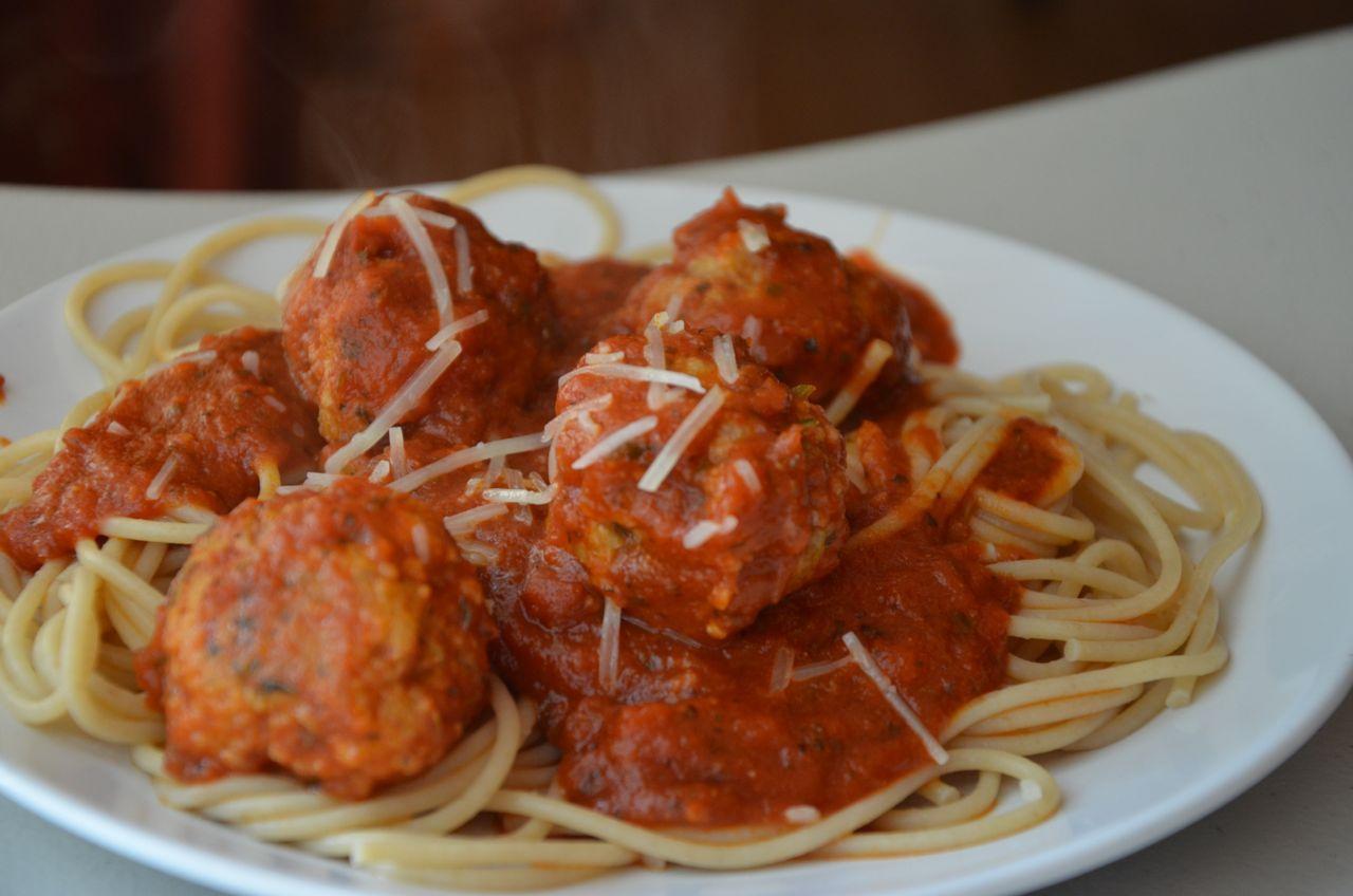 Recipe Shoebox: Spaghetti and Turkey - Pesto Meatballs