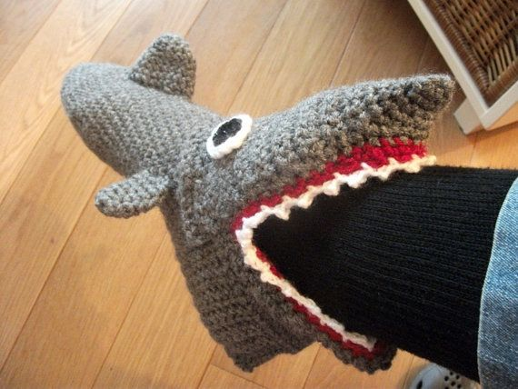 Crochet Pattern Shark Slippers Adult Sizes Eur Size 35 To 46