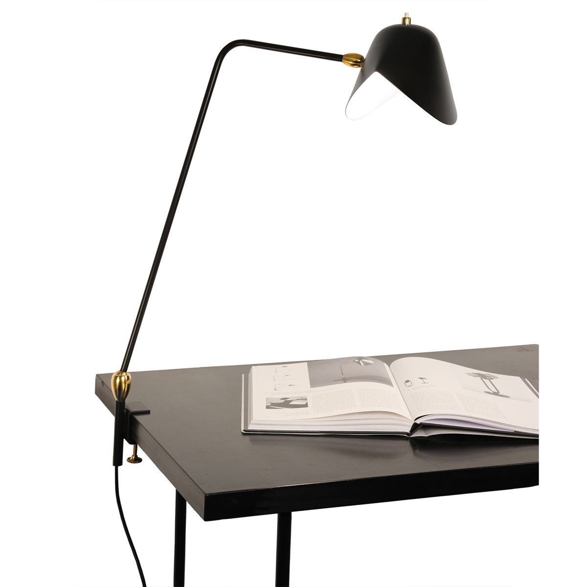 Serge Mouille Agrafee Double Pivot Clamp Lamp