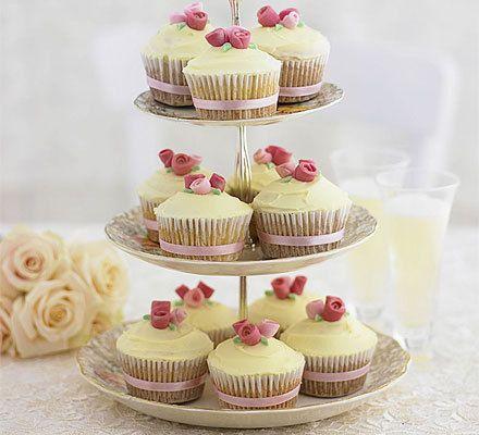 Romantic rose cupcakes recipe - Recipes - BBC Good Food ...