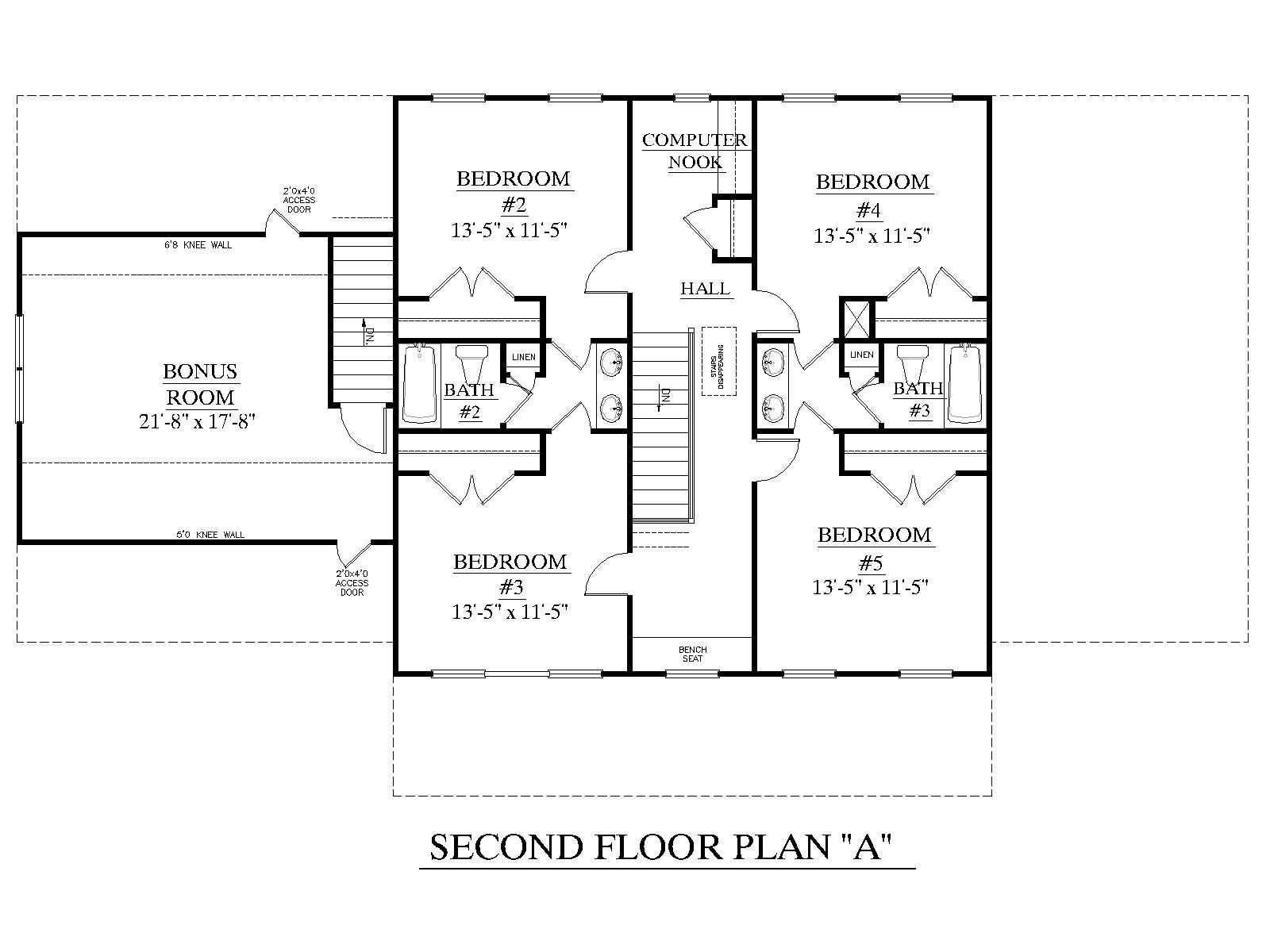 House plan 3120 c pendleton second floor traditional for Brick house floor plans