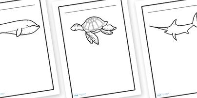 Twinkl Resources >> Under the Sea Writing Frames