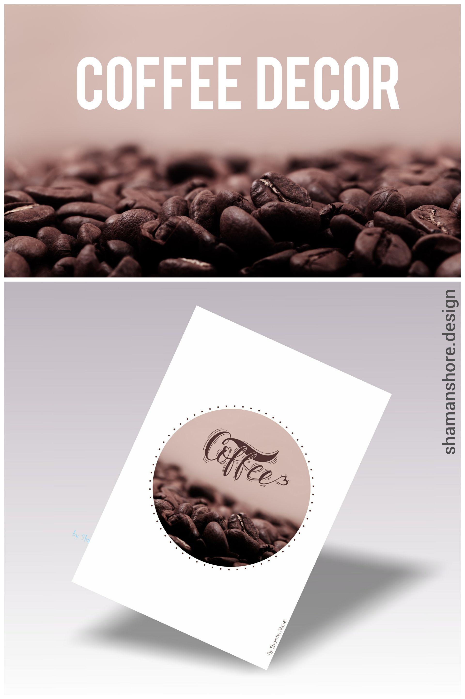 Kitchen Décor Coffee Poster Printable Art, Décor Coffee Printable ...