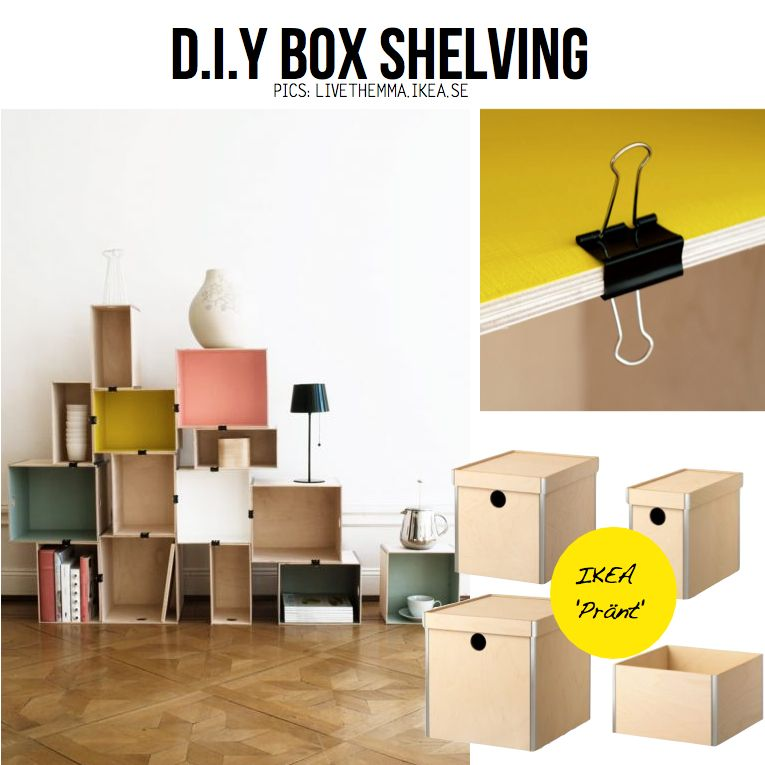 DIY Box Shelving... If They Are Cheap You Could Use Them