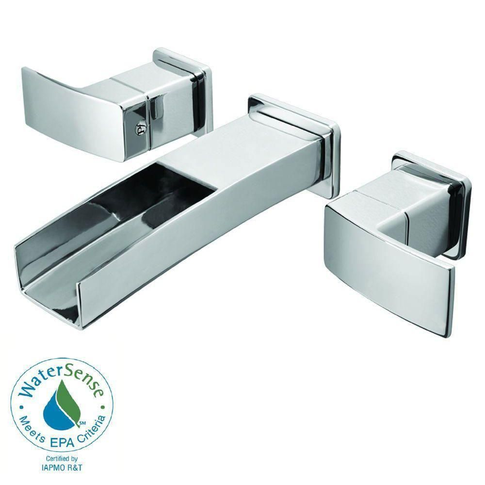 Price Pfister Kenzo Wall Mount 2-Handle Bathroom Faucet in Polished ...