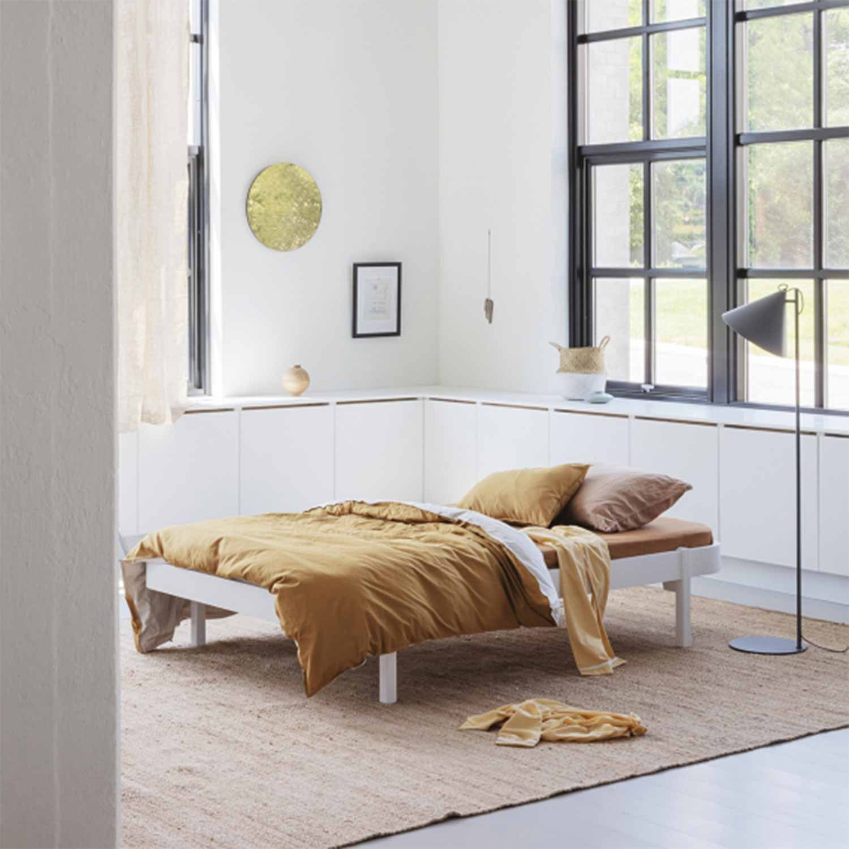 Oliver Furniture Wood Lounger Bett Wei� 120x200 Cm