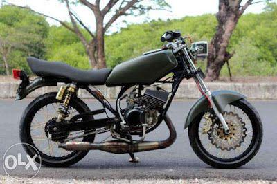 Foto Gambar Modifikasi Motor Rx King Warna Hitam Motor Hitam