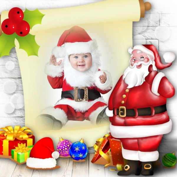 Merry Christmas! Little Baby Santa. So Cute! You Can Put