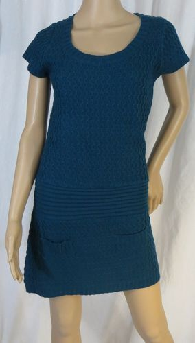 """AMBIANCE APPAREL"" BLUE SWEATER DRESS"