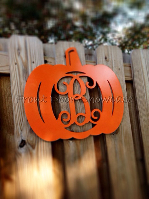Monogram Pumpkin ~ Halloween ~ Door Hanger ~ Door Decor ~ Fall - halloween front door decor