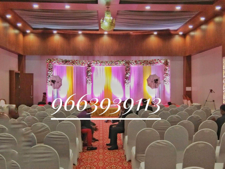 Floral Backdrop ideas for wedding reception by wedding