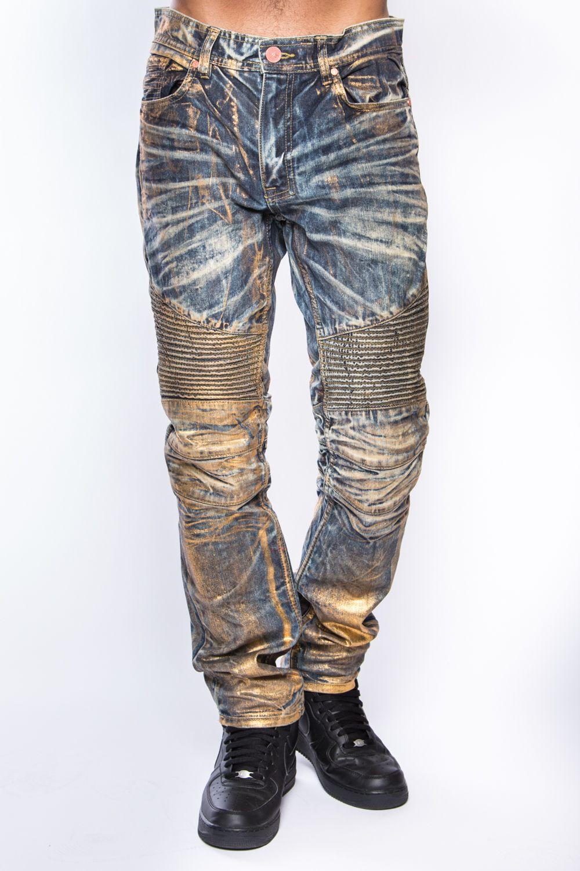 5857fe57c51 JORDAN CRAIG METALLIC BIKER JEANS #metallicpants #bikerjeans #mensjeans  #menspants #mensfashion