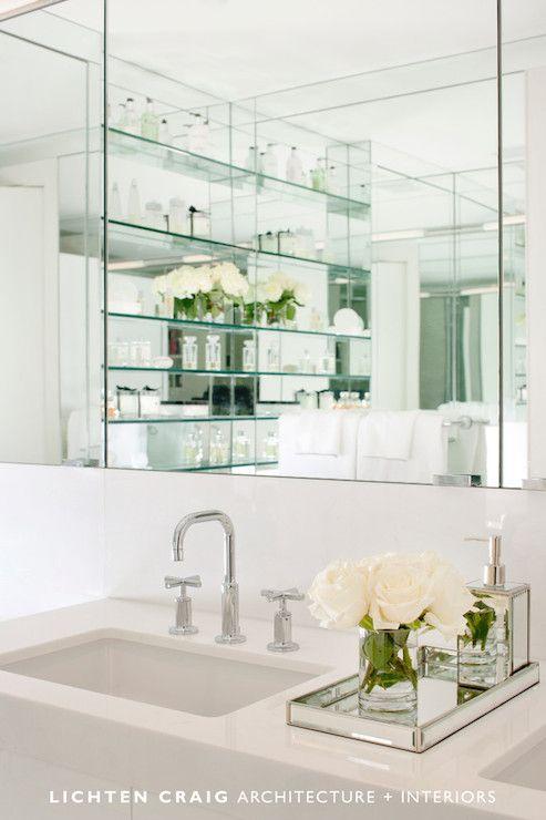 Lichten Craig Architects Bathrooms Mirrored Tray Mirrored