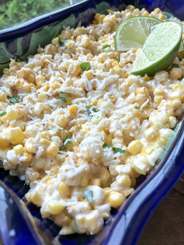 Easy Mexican Street Corn Salad #mexicanstreetcorn