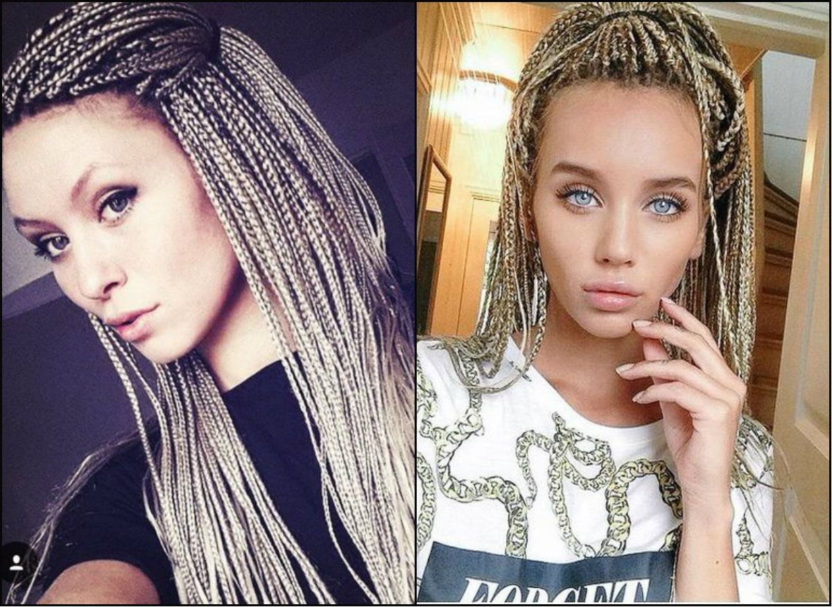 White Girl Box Braids Hairstyles To Try Now Cabelo Com Trancas