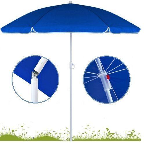 adjustable folding beach umbrella travel garden parasol patio tilt