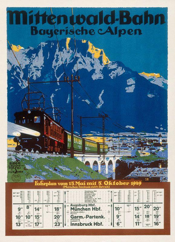Mittenwald Von Suchodolski Mittenwald Retro Poster Reiseposter