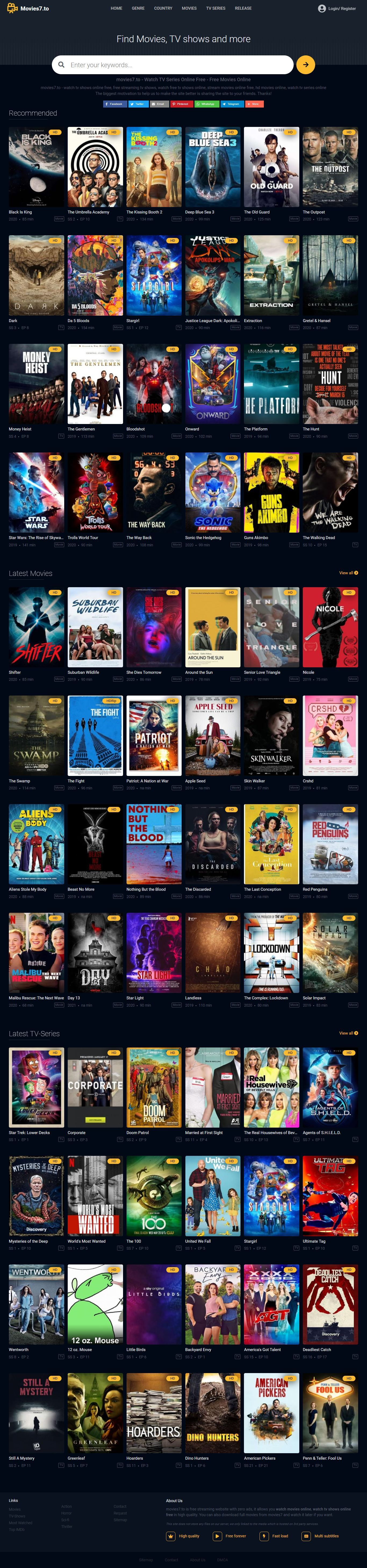 Free Movies Without Sign Up Or Paying In 2021 Tv Series To Watch Tv Series Online Watch Free Tv Shows
