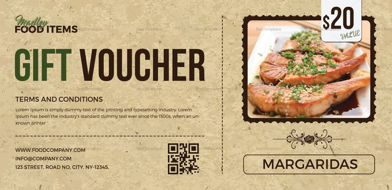Food Coupon Template Pinterest Commercial printing and Template - food voucher template