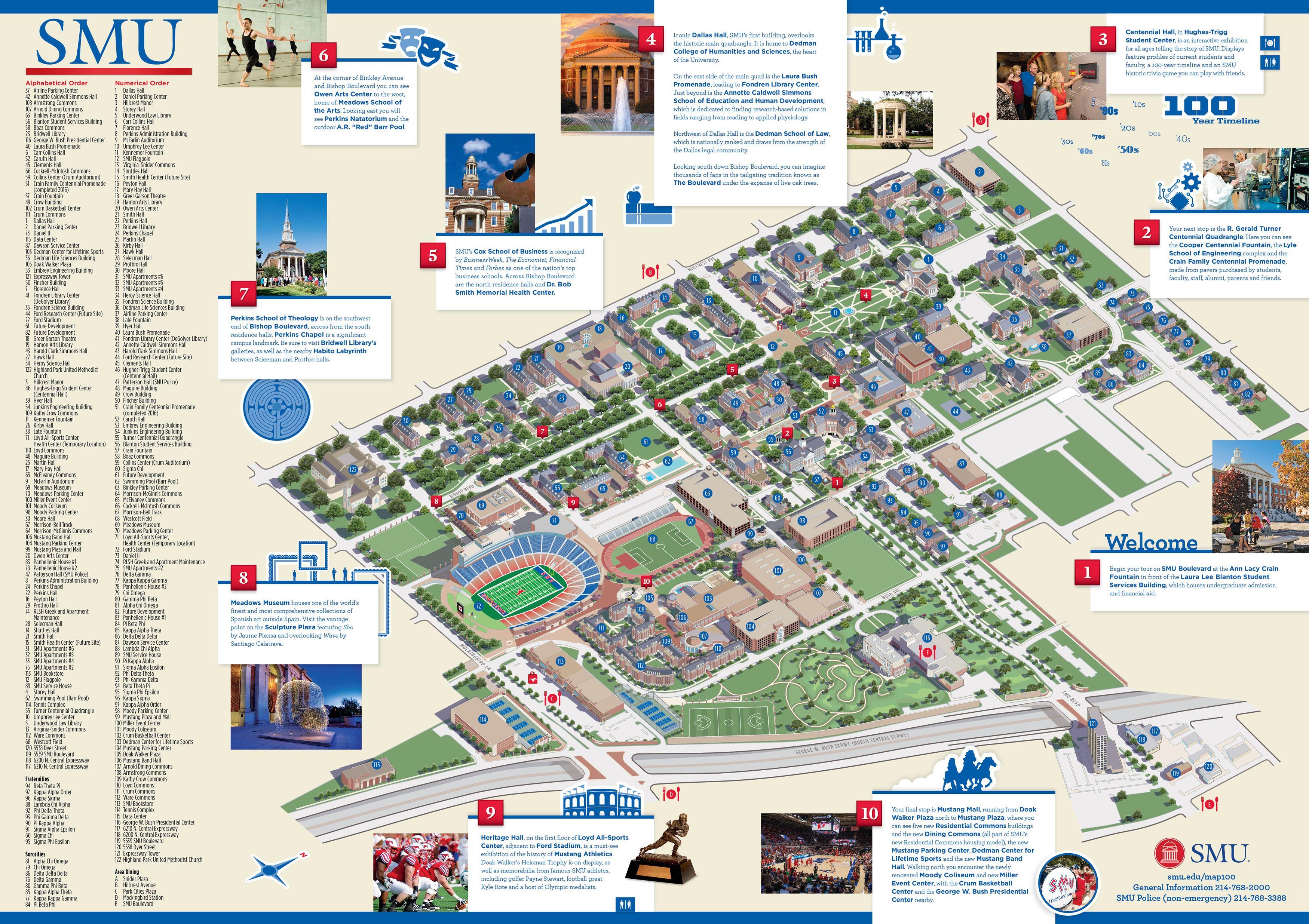 smu plano campus map Smu Centennial Map Texas History Smu Centennial