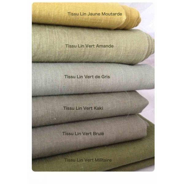 tissus lin vert kaki vente en ligne de tissus en lin belle gamme de couleur sylvette en. Black Bedroom Furniture Sets. Home Design Ideas