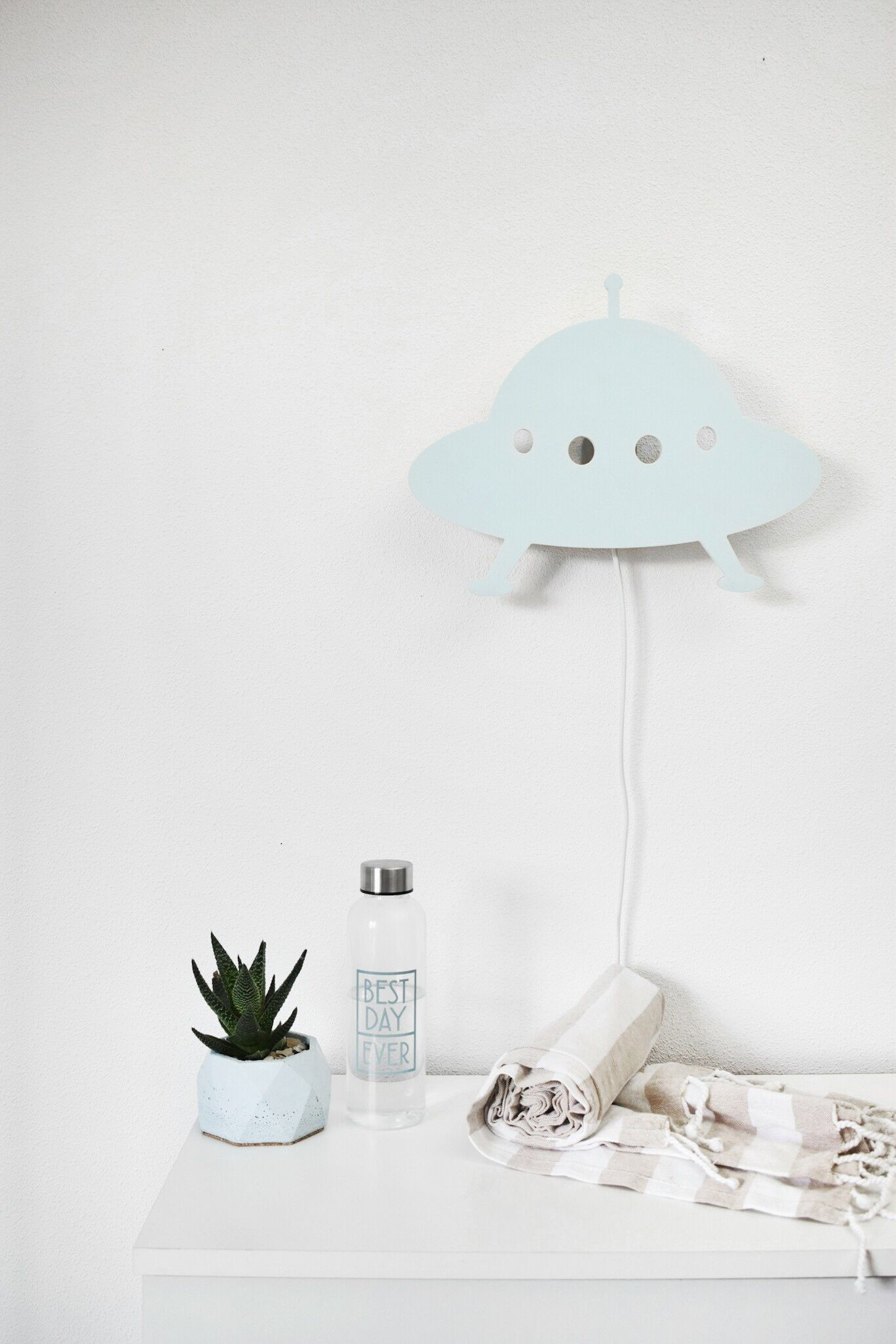 Wooden Lamp Flying Saucer Made By Brand SABO Concept #nursery Decor#  Lampbaby#babyshower