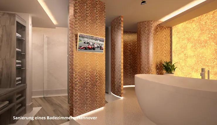 Umgestaltung Eines Luxurosen Badezimmers In Hannover Mit Bildern Badezimmer Badezimmer F Schone Badezimmer