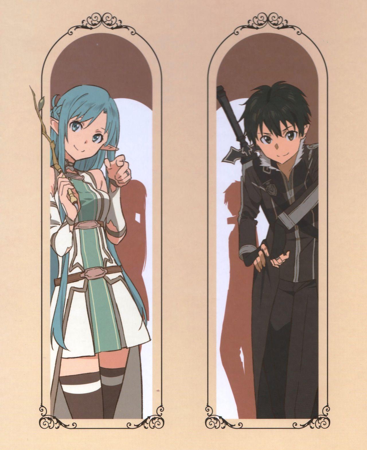 Kirito l Asuna | Sword Art Online | Pinterest | Kirito, Sword art ...