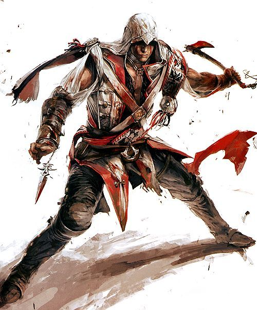 Ac3] connor kenway early concept art it looks like the rope dart
