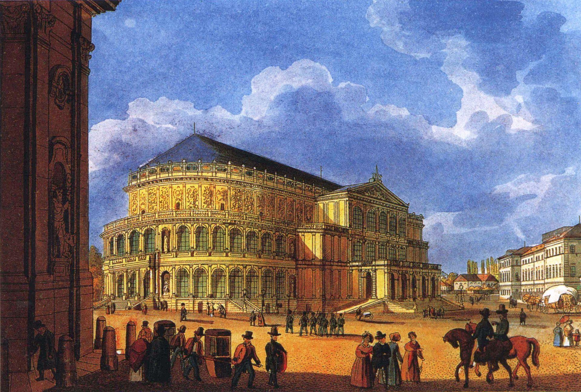 Die Erste Semperoper Semper Oper Opernhaus Semperoper Dresden